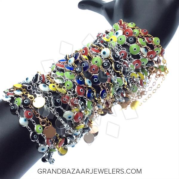 925 Silver Evil Eye 100 Mixed Bracelets