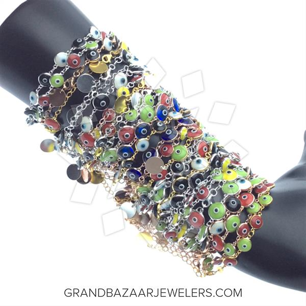 925 Silver Evil Eye 50 Mixed Bracelets