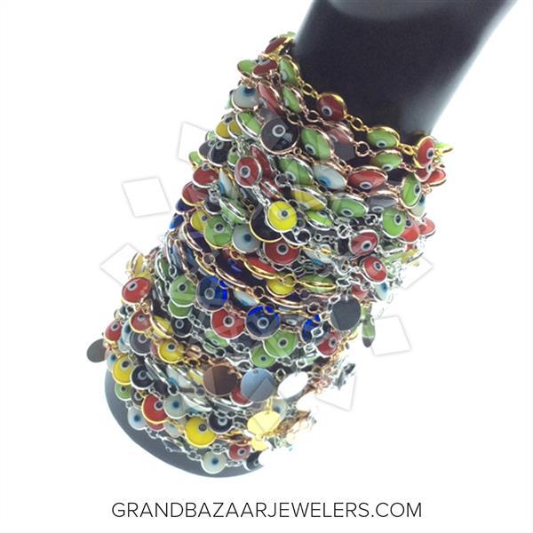 925 Silver Evil Eye 25 Mixed Bracelets