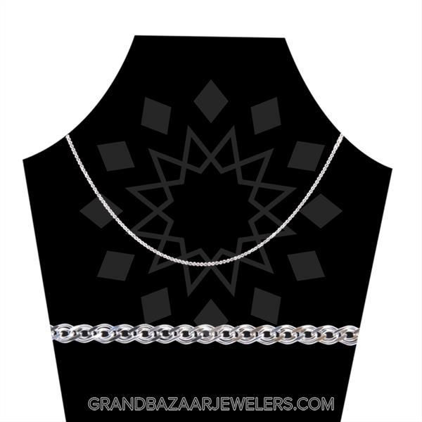 925 Silver Metal Chain Nonna Necklace