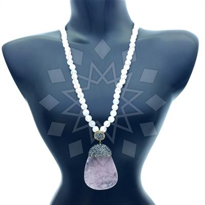 Agate Slice Druzy Necklace