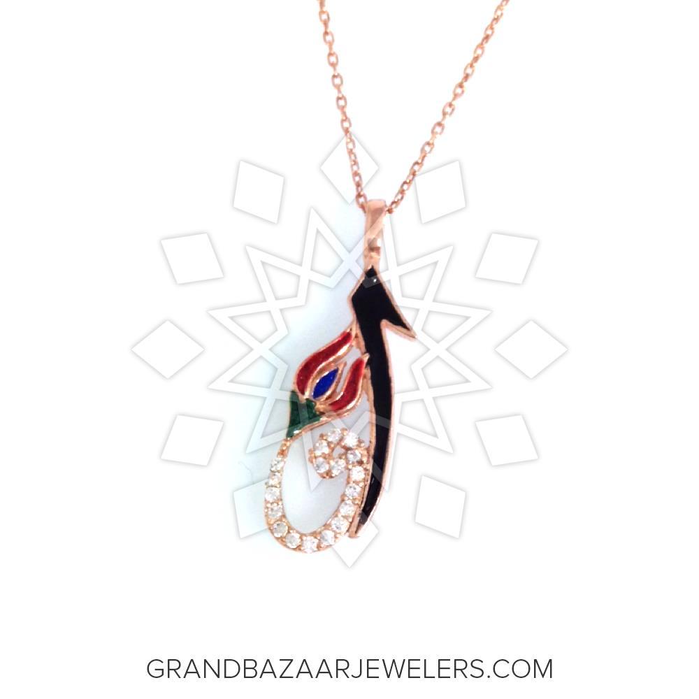 Artistic Enamel Jewelry Pendant Necklace