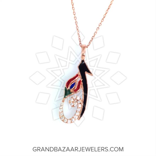 Artistic Enamel Jewelry Pendant Necklace