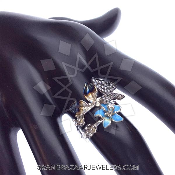 Artistic Enamel Jewelry Rings