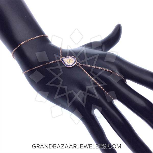 Chain Bracelet to Ring Hand Jewelry