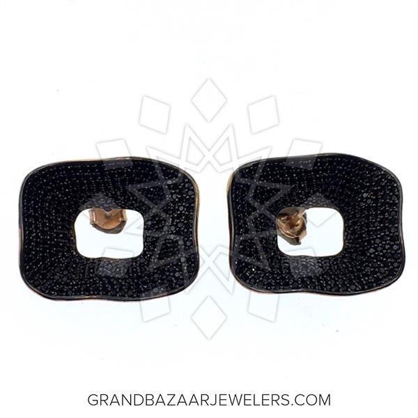 Chic Black Gemstone Earrings