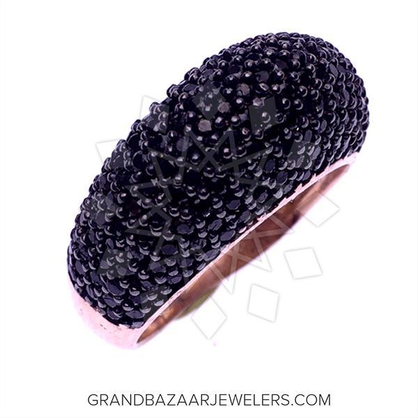 Chic Black Gemstone Rings