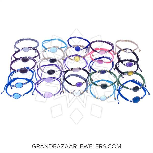 Color Gemstone Sterling Silver Bracelets