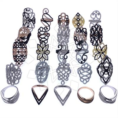 925 Silver Statement Mixed Rings