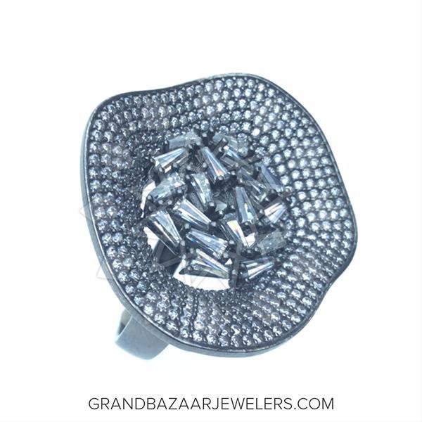 Designer Baguette 925 Silver Rings