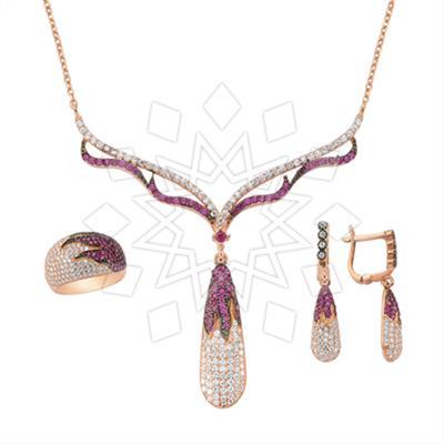 Designer Color Gemstone Jewelry  Sets