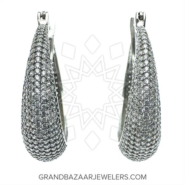 Designer Silver Jewelry Statement Earrings