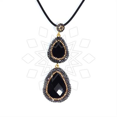 Double Drop Gems and Crystal Pendant