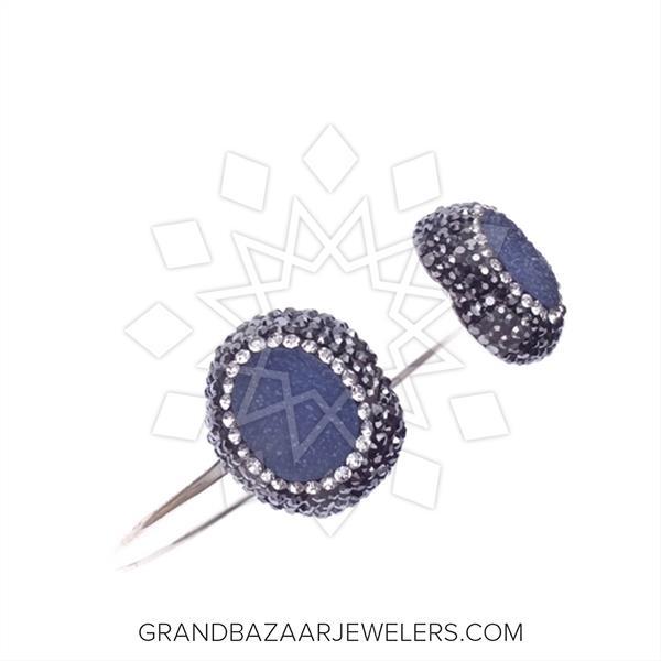 Double Gems with Crystal Trim Bracelets