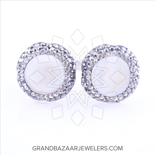 Double Gems with Crystal Trim Natural Gemstones