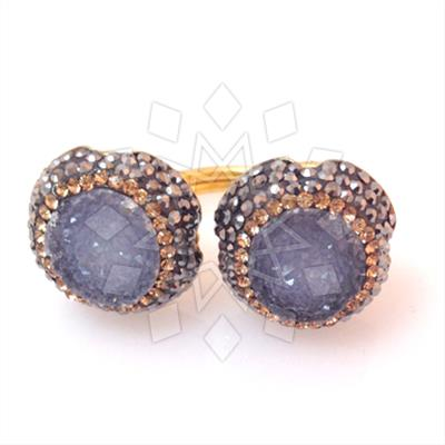 Double Gems with Crystal Trim Rings