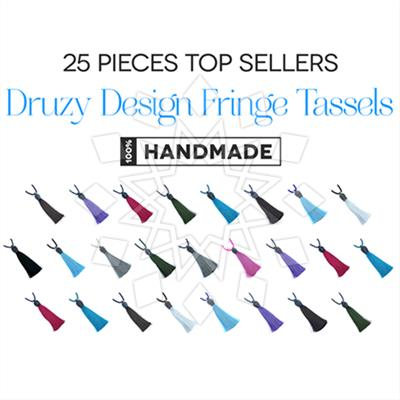Druzy Design Fringe Tassel Necklaces 25 Mixed