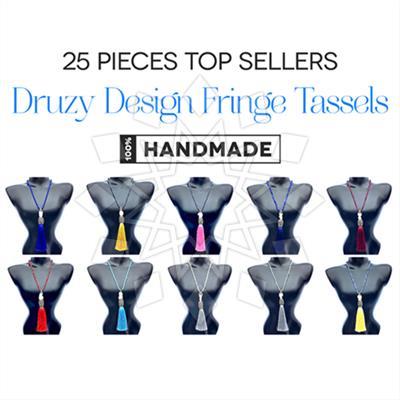 Druzy Design Fringe Tassels 25 Mixed
