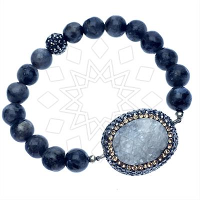 Druzy Raw Crystal Gemstone Bracelets