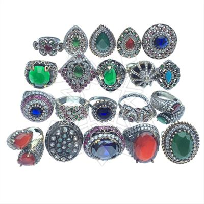 Ethnic Turkish Ottoman Mixed Rings