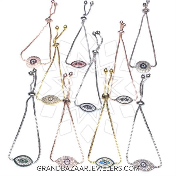 Evil Eye Fashion Jewelry Bijou 10 Mixed Bracelets