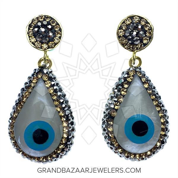Evil Eye Fashion Jewelry Bijou Earrings