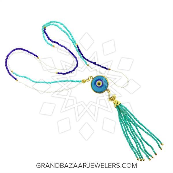 Evil Eye Fashion Jewelry Bijou Tassel Necklace