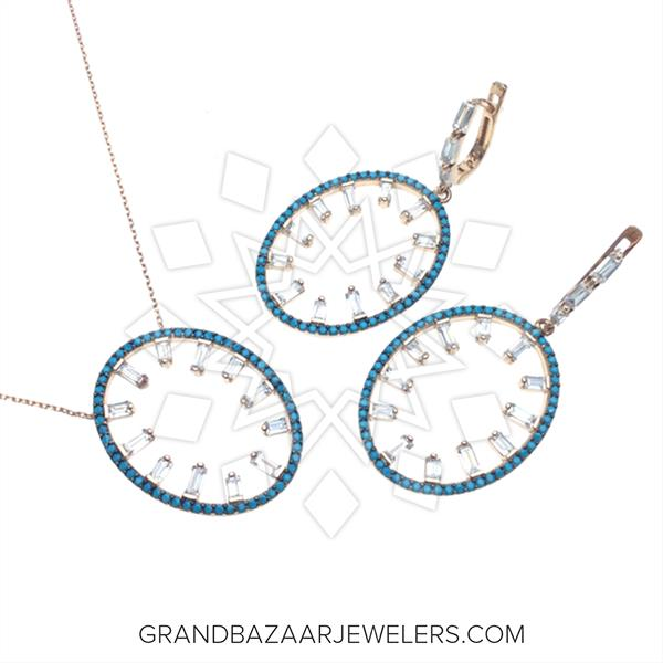 Designer Baguette 925 Silver Sets