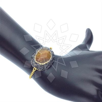 Agate Slice Druzy Bracelets