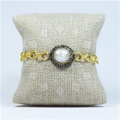 Gem and Crystal Artisan Silver Bracelets