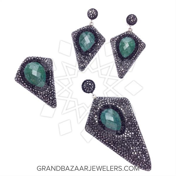 Geometric Druzy Jewelry Sets