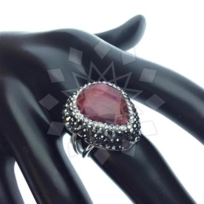 Gem and Crystal Artisan Silver Rings