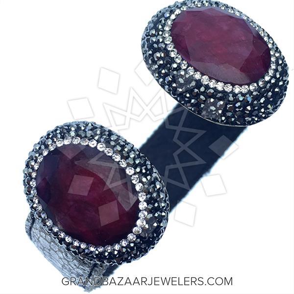 Gem and Crystal Leather Bracelets
