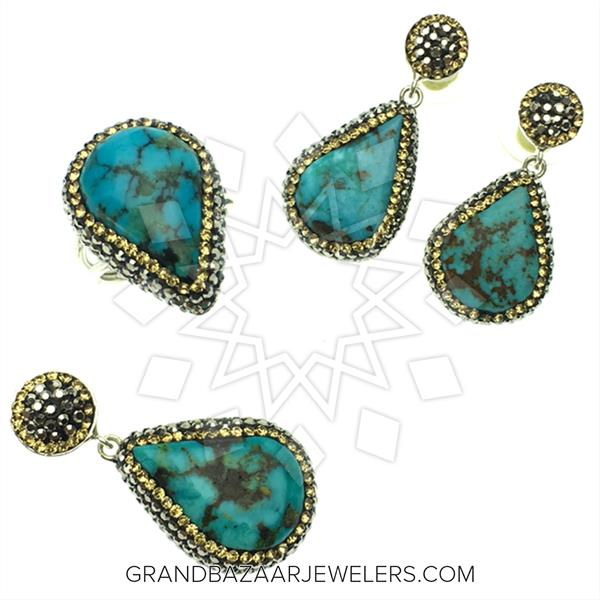 Gem and Crystal Silver Jewelry Sets