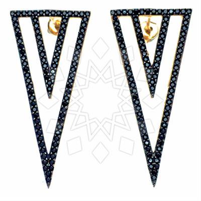 Chic Black Gemstone Earings