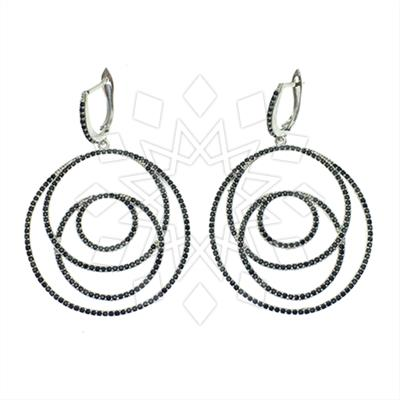 925 Silver Geometric Design Earrings