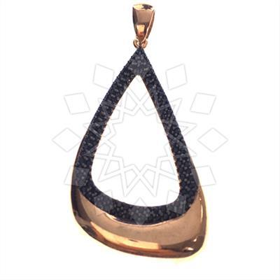 Chic Black Gemstone Pendant