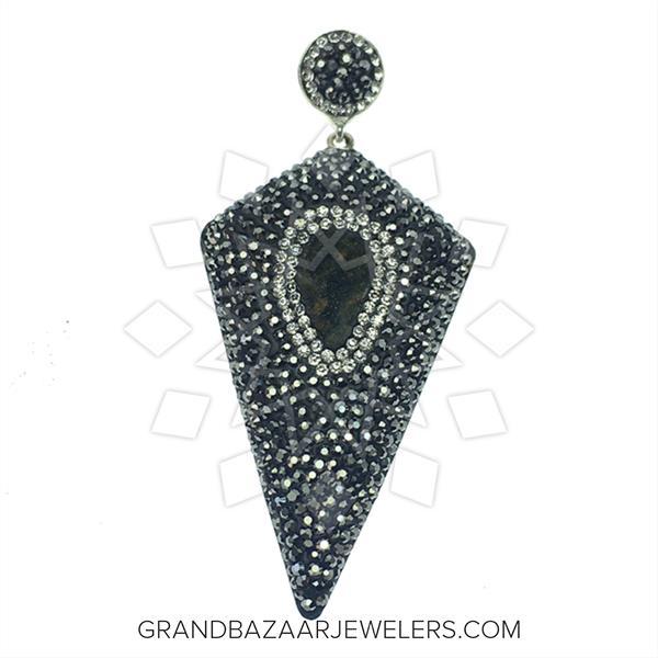 Geometric Druzy Jewelry Pendant