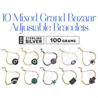 Grand Bazaar Adjustable Size Bracelets 10 Mixed