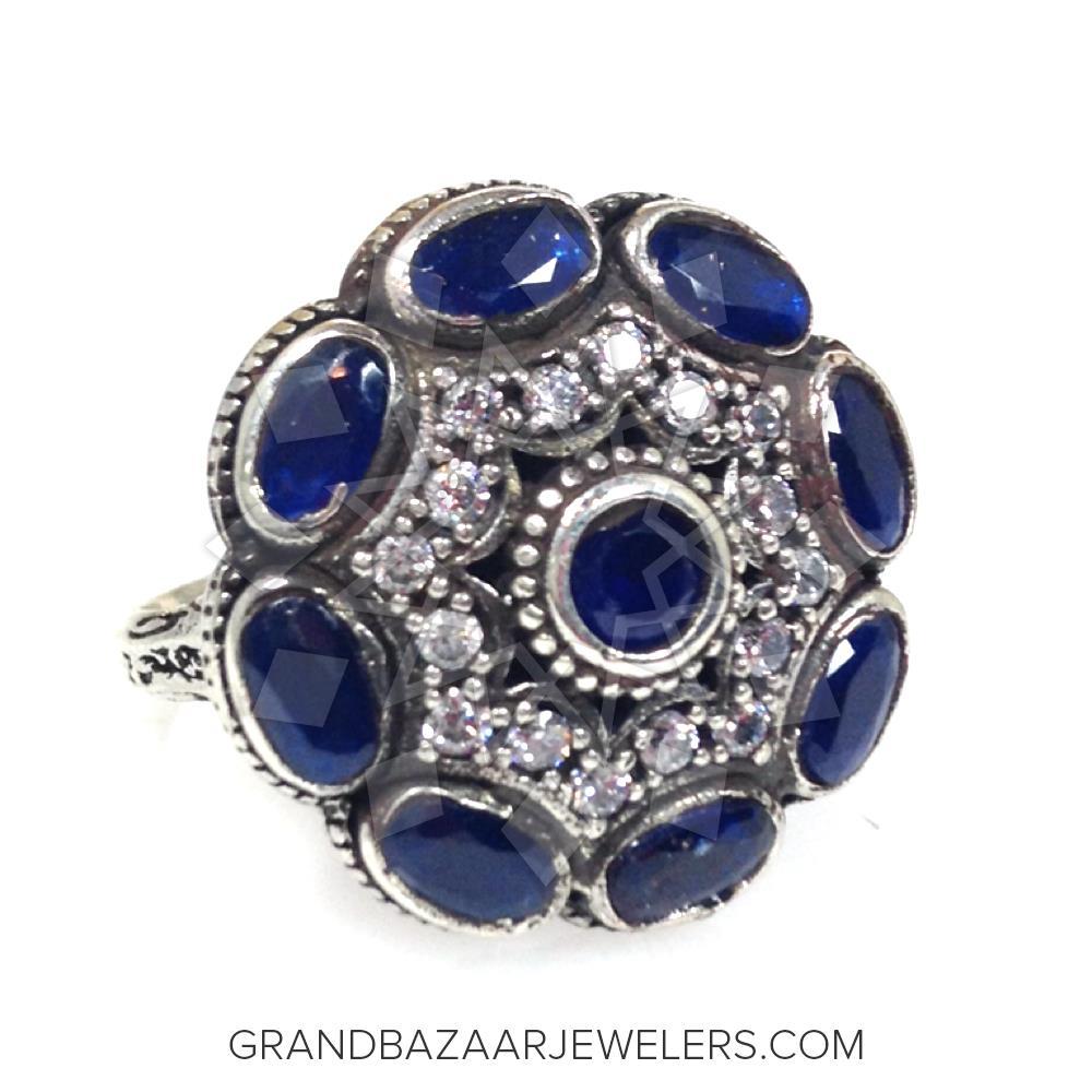 Grand Bazaar Color Gem Silver Rings