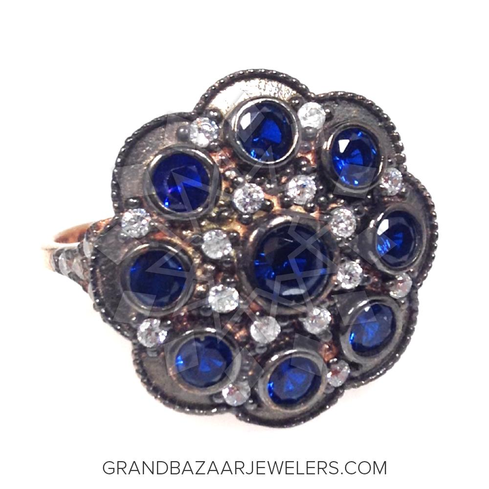 Grand Bazaar Color Gem Silver Rings