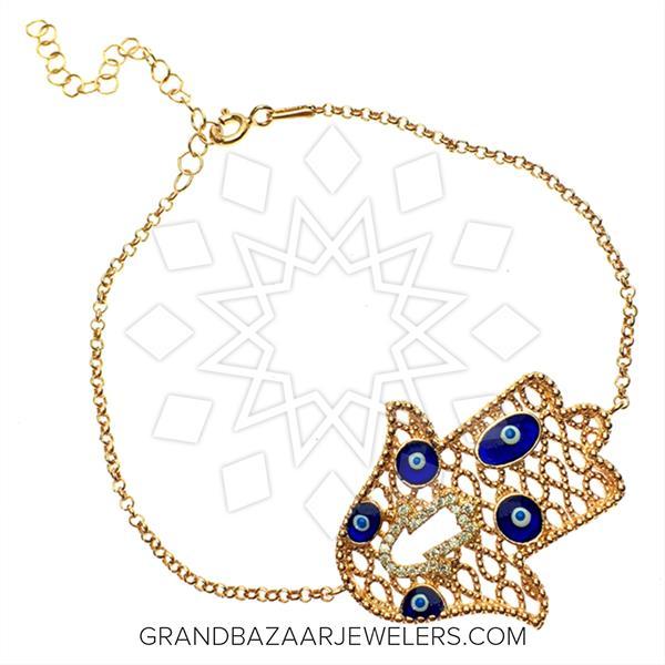Hamsa Hand of Fatima Silver Bracelets