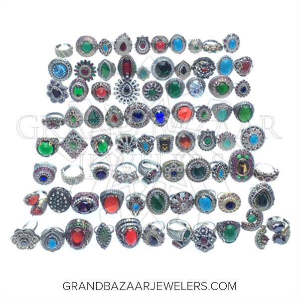 Hurrem Sultan Turkish Silver Mixed Rings
