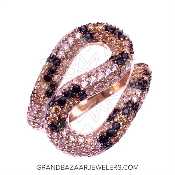 Leopard Pattern 925 Silver Rings