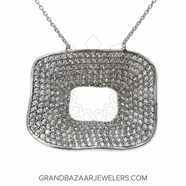 Designer Silver Jewelry Statement Necklace
