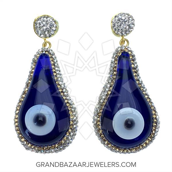 Murano Glass Evil Eye Earrings