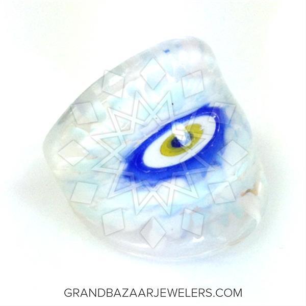 Murano Glass Evil Eye Rings