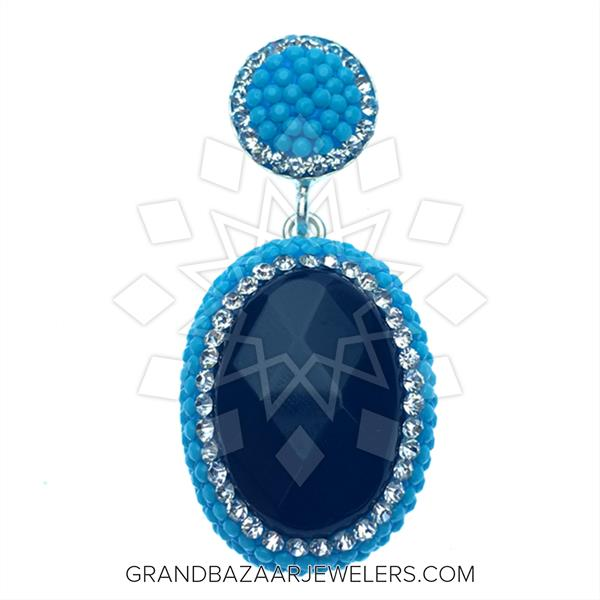 Nano Turquoise Druzy Pendant