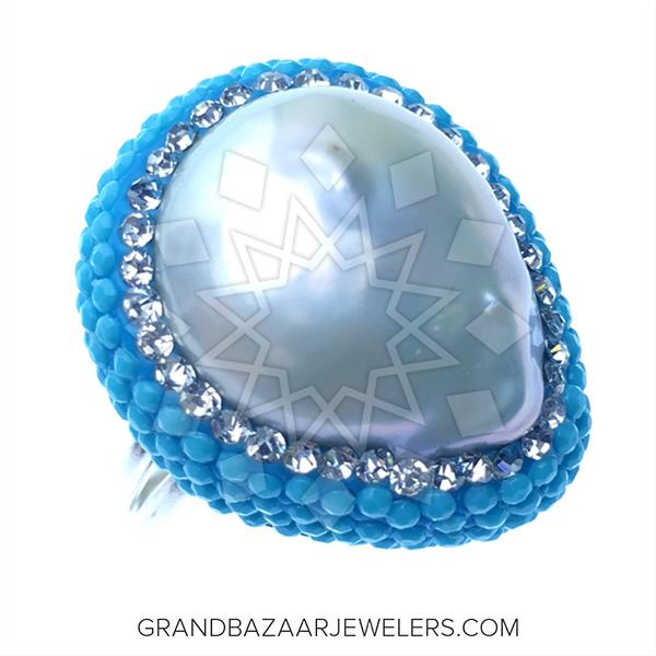 Nano Turquoise Druzy Rings