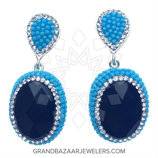 Nano Turquoise Druzy Earrings